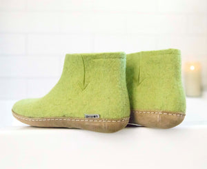 Glerups Felted Wool Boot with Leather Sole