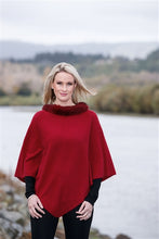 Nativeworld Possum Trim Poncho in Berry