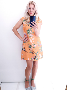 Small Kennedy dress by Helga May in Mandarine