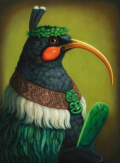 Manu Huia Greeting Card by Rieko Woodford Robinson
