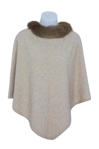 Nativeworld Possum Trim Poncho in Natural
