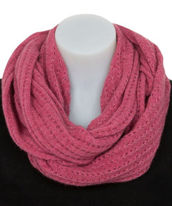 Possum Merino Lace Loop Scarf by Nativeworld in Raspberry