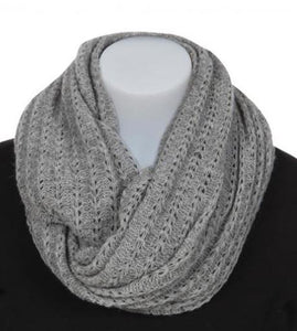 Nativeworld Possum Merino Lace Loop Scarf in Silver