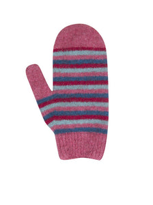 Nativeworld Child's Striped Mittens NX708 Raspberry