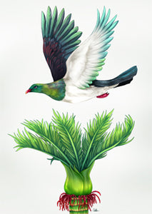 Sophie Blokker - Kereru In Flight Limited Edition Print