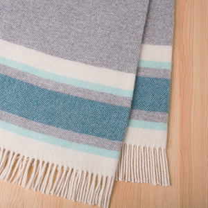 Ohope NZ Lambswool blanket by Weave in Dragonfly
