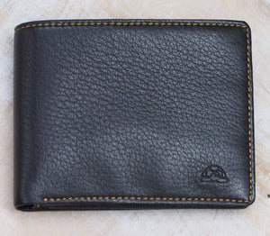 Tony Perotti Deerskin Flip Wallet with Coin Purse- Brown