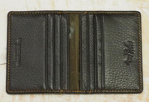Tony Perotti Deerskin Leather Credit Card Holder - Brown