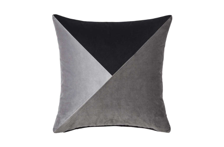Paloma Velvet Cushion by Weave in Flint