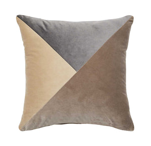 Paloma Velvet Cushion by Weave in Truffle