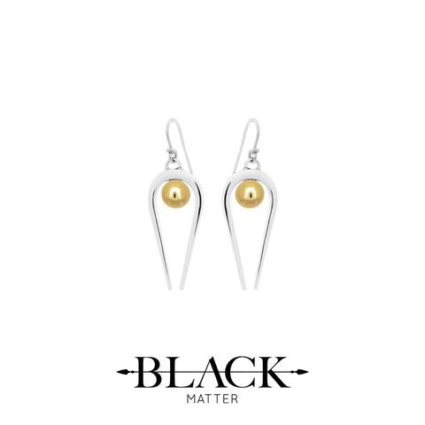 Medium penumbra earrings by Black Matter  NZ made