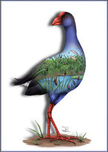 Sophie Blokker Pukeko NZ Native Bird Print