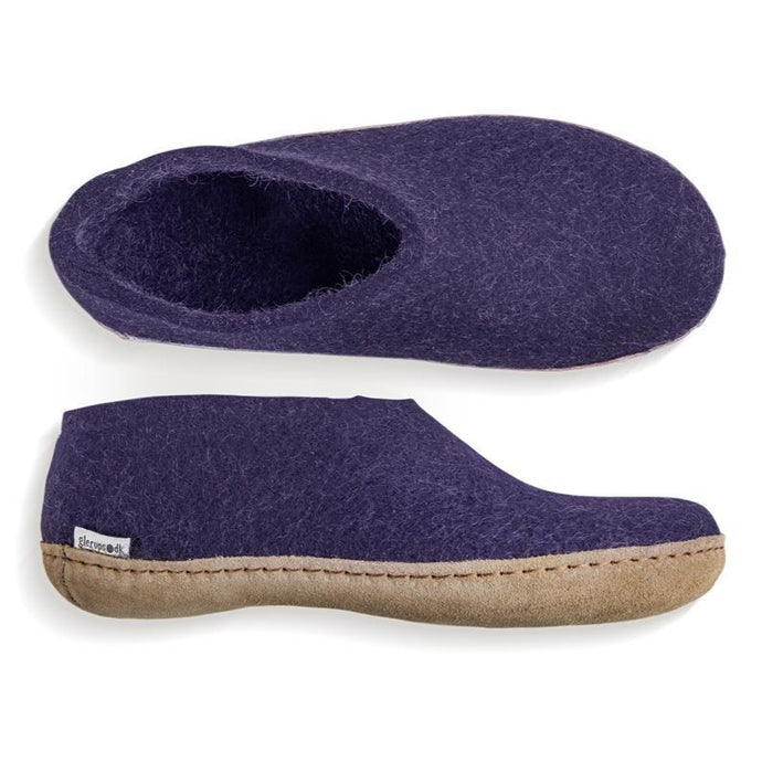 Glerups Leather Sole Shoe in Purple