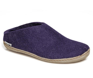 Glerups Leather Sole Slip-On in Purple