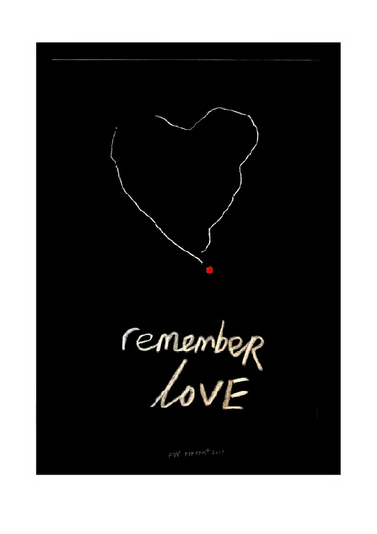 Remember Love pop Print by Fleur Wickes