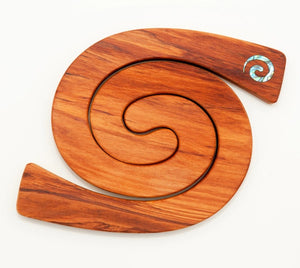 Romeyn 2 in 1 placemat with Koru Paua Inlay