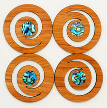 Romeyn Magnetic Coasters with Paua Inlay