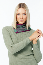 Elka Snood Savvy Snood in berry and green