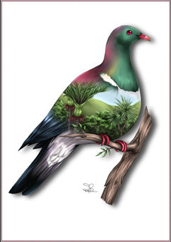 Sophie Blokker Kereru Native NZ Woodpigeon