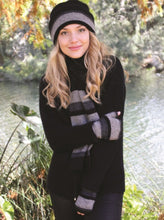 Taupo Possum merino scarf in silver by Lothlorian