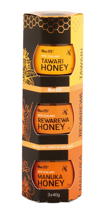 Hive 175 Honey Selection - Tawari, Rewarewa, Manuka