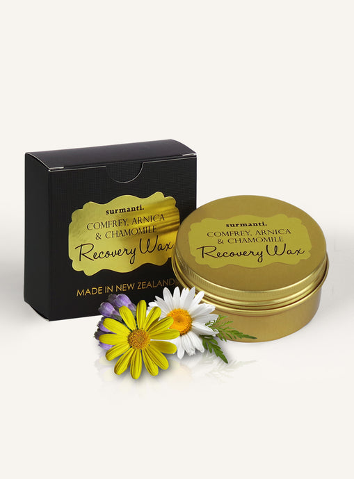 Recovery Wax with comfrey, arnica and chamomile from Surmanti