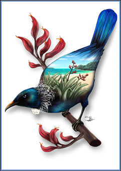 Sophie Blokker - Tui Native NZ Bird Limited Edition Print