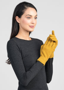 Untouched World Cosy Gloves in Kowhai