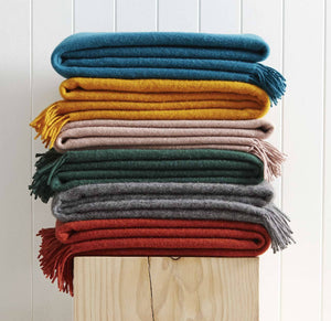 Nevis Lambswool Throws by WeaveHome