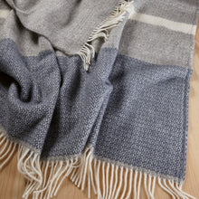 Kirkcaldy Wool Blanket by Weave in Blue Slate
