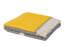Kirkcaldy Wool Blanket by Weave in Yellow