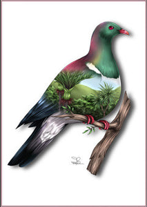 Sophie Blokker Kereru NZ Native Bird Print