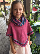 Nativeworld Striped Poncho in Raspberry