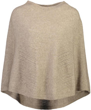 Chevron Lace Poncho in Mocha Possum merino by Mcdonald