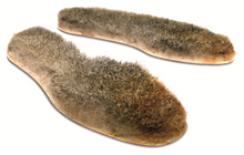 Possum fur boot and shoe liners