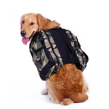 Camoflauge Dog Backpack Saddle Bags