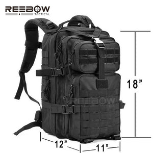 Reebow 34L Tactical Backpack with Molle Webbing and US Patch