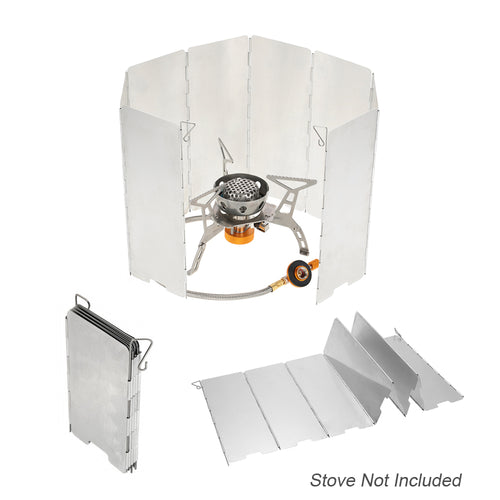 8 Plate Camp Stove Windshield