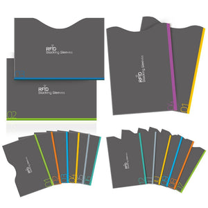 Nulaxy RFID Blocking Sleeves, Set of 16 (12 Credit Card Holders & 4 Passport Protectors) for Identity Theft Protection
