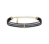 Riley Rope Choker- Black and Gold