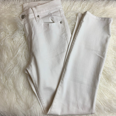 GAP White Ripped Jeans- Size 28R
