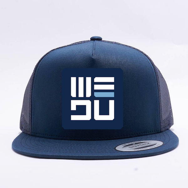 WEDŪ Blue Badge 5 Panel Trucker Hat - Blue