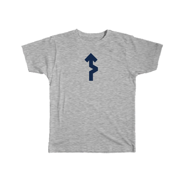 Forward Never Straight Tee - Grey - Men's