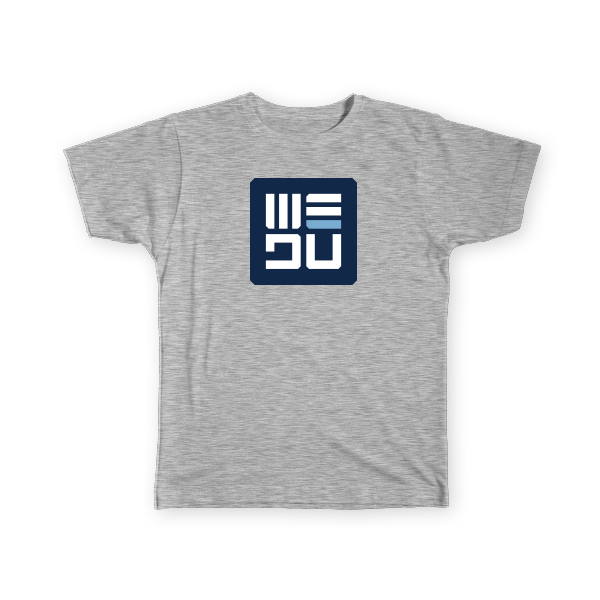 WEDŪ Logo Tee - Grey - Men's
