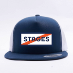Stages Podcast 5 Panel Trucker Hat - Blue/White - 2 Tone