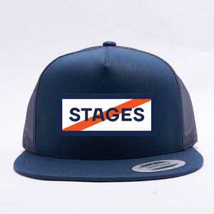 Stages Podcast 5 Panel Trucker Hat - Blue