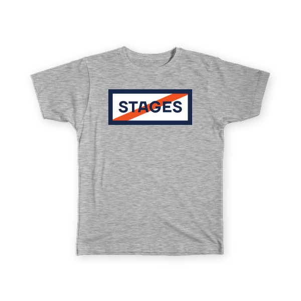 Stages Podcast Tee - Grey - Men's