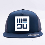 WEDŪ White Badge 5 Panel Trucker Hat - Blue
