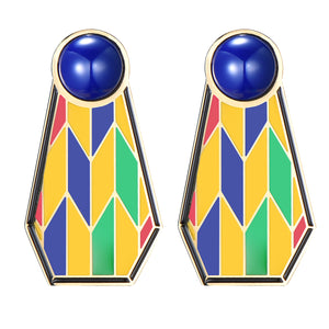 Ruahh - Multi Kente Earrings