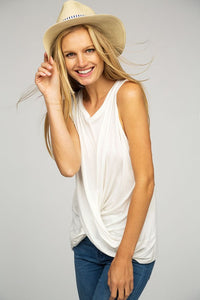 Twist Knot Front Basic - White